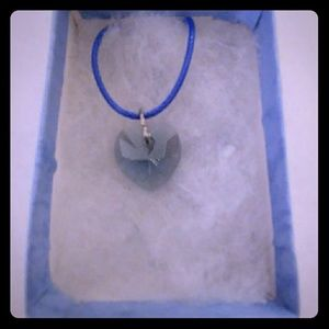 Jewelry - Precious Blue Crystal Heart Necklace